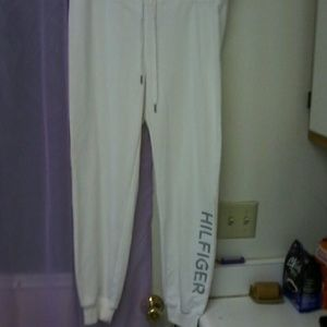 white tommy hilfiger sport medium joggers